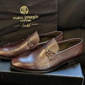 NIB Marc Joseph Driving Loafers 10.5 Wine Napa